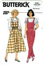 Butterick 3107 Misses Jumper Jumpsuit & Top Size 12 - 16
