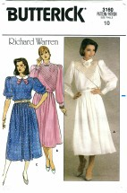Butterick 3160 RICHARD WARREN Top & Skirt Size 10 - Bust 32 1/2