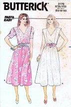 Butterick 3170 Sewing Pattern Misses Pullover Dress Size 14 - 16 - 18