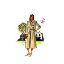 1980s Jacket Skirt Blouse J.G. Hook Butterick 3401 Vintage Sewing Pattern Size 14-16-18 Bust 36-38-40