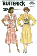 Butterick 3622 Top & Skirt Size 8 - 12 - Bust 31 1/2 - 34