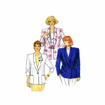 Misses Single or Double Breasted Jacket Butterick 3638 Vintage Sewing Pattern Full Figure Size 20 - 22 - 24