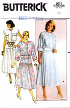 Butterick 3671 Blouson Pleated Dress Size 10 - Bust 32 1/2