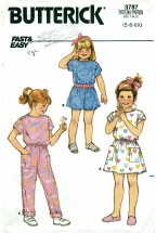 Butterick 3787 Dress & Jumpsuit Size 5 - 6X
