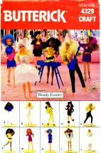 Butterick 4329 Barbie Clothes Wardrobe Crafts Pattern