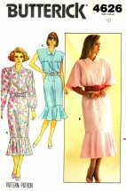Butterick 4626 Vintage Sewing Pattern Misses Straight Dress Size 10 Bust 32 1/2