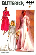 Butterick 4646 Brides & Bridesmaid Wedding Dress Gown Size 8 - Bust 31 1/2