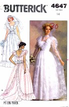 Butterick 4647 Bridal Gowns and Bridesmaid Dress Size 14 - Bust 36