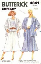 Butterick 4841 Jacket Top Skirt Size 6 - 14 - Bust 30 1/2 - 36