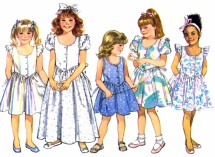 Butterick 4885 Girls Dress Sewing Pattern Size 5 - 6 - 6X