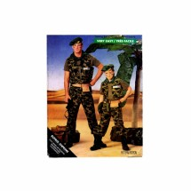 Boys GI JOE Costume Butterick 5875 Vintage Sewing Pattern Size 7-8-10-12-14