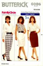 Butterick 6086 Skirt and Pants Size 12 - 16 - Waist 26 1/2 - 30