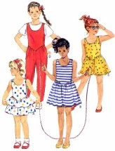 Butterick 6353 Girls Dress Jumpsuit Sewing Pattern Size 5 - 6 - 6X