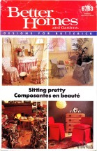 Butterick 6763 Better Homes and Gardens Chair Covers