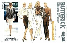 Butterick 6808 Jacket Blouse Skirt Pants Size 10 - Bust 32 1/2
