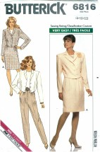 Butterick 6816 Jacket Top Skirt Pants Size 8 - 12 - Bust 31 1/2 - 34