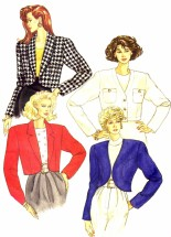 Misses Below Waist Jacket Butterick 6818 Vintage Sewing Pattern Size 12 - 14 - 16