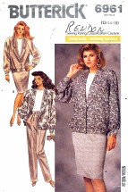 Butterick 6961 Jacket Skirt Pants Top Bust 34 - 38