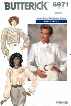 Butterick 6971 Misses Loose Fitting Blouse Size 6 - 10