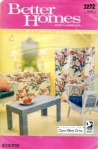 Butterick 3272 Sewing Pattern Fabric Covered Furniture