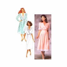 1980s Misses Mock Wrap Dress Butterick 3431 Vintage Sewing Pattern Size 6 - 8 - 10