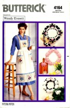 Butterick 4164 Wendy Everett Wreaths Apron Jacket