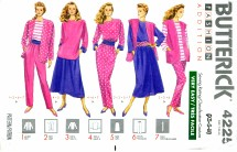 Butterick 4225 Sewing Pattern Jacket Vest Top Skirt Pants Sash Size 6 - 14