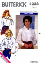 Butterick 4228 Sewing Pattern Loose Fitting Shirt Size 6 - 8 - 10