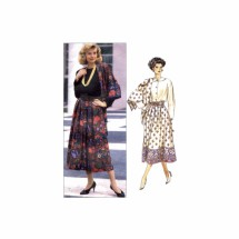 Misses Skirt and Scarf Butterick 4231 Vintage Sewing Pattern Full Figure Size 20 - 22 - 24