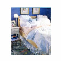 White Bedroom Pillow Covers Duvet Cover Dust Ruffle Butterick 4347 Vintage Sewing Pattern
