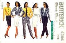 Butterick 4386 Jacket Top Skirt Pants Size 6 - 10 - Bust 30 1/2 - 32 1/2