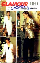Butterick 4511 Glamour Collection Jacket Top Skirt Pants Size 12 - 16 - Bust 34 - 38