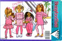 Butterick 4527 Sewing Pattern Girls Jumpsuit Jumper Top Skirt Leggings Size 4 - 5 - 6