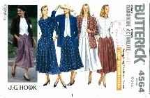 Butterick 4564 Jacket Top Skirt Culotte Size 6 - 10 - Bust 30 1/2 - 32 1/2