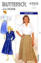 Butterick 4565 J. G. Hook Shirt and Skirt Size 6 - 10 - Bust 30 1/2 - 32 1/2