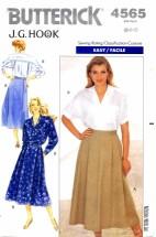 Butterick 4565 J. G. Hook Shirt and Skirt Size 6 - 10 - Bust 30 1/2 - 32 1/2