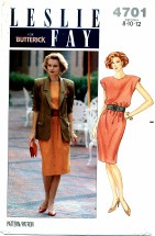 Butterick 4701 LESLIE FAY Jacket & Dress Size 8 - 12