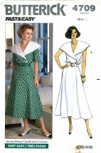 Butterick 4709 Misses Top & Skirt Size 6 - 10 - Bust 30 1/2 - 32 1/2