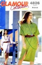 Butterick 4826 Front Buttoned Dress Size 18 - 22 - Bust 40 - 44