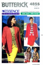 Butterick 4855 Sewing Pattern Womens Jacket Top Skirt Suit Size 6 - 8 - 10