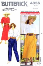 Butterick 4856 Shirt Skirt Pants Size 6 - 10 - Bust 30 1/2 - 32 1/2