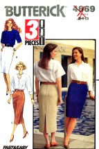 Butterick 4869 Sewing Pattern Misses Tapered Skirts Size 6 - 10