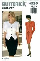 Butterick 4926 Top & Skirt Size 6 - 12 - Bust 30 1/2 - 44