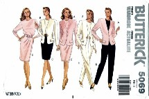 Butterick 5069 Misses Jacket Wrap Skirt Pants Top Size 6 - 10 - Bust 30 1/2 - 32 1/2