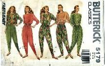 Butterick 5179 Jacket Top Pants Size 12 - 16 - Bust 34 - 38