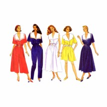 Misses Dress Culotte Dress Jumpsuit Butterick 5369 Sewing Pattern Size 18 - 20 - 22