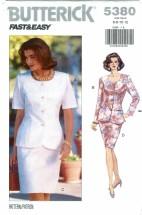 Butterick 5380 Top & Skirt Size 6 - 12 - Bust 30 1/2 - 34