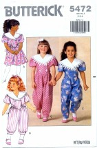 Butterick 5472 Dress & Jumpsuit Size 2 - 4