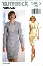 Butterick 5605 Misses Dress Size 18 - 22 - Bust 40 - 44