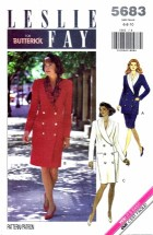 Butterick 5683 Dress Top Skirt Size 6 - 10 - Bust 30 1/2 - 32 1/2